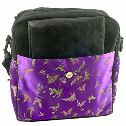 Purple Butterfly Diaper Bag