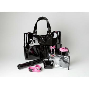 Sophie's Black Patent Designer Diaper Bag Carry All