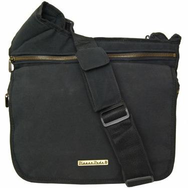 Black Faux Suede Diaper Bag