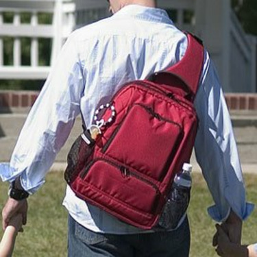 Daddy's Backpack in Red