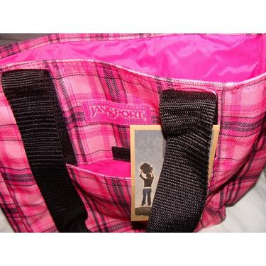 Jansport Classic Tote Bag Sweet Heart Pink Tartan