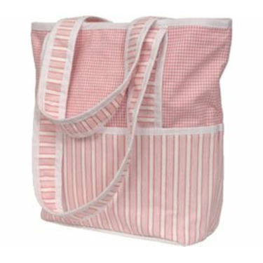 Personalized Sherbert Pink Tote Diaper Bag