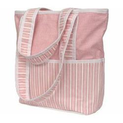 Personalized Sherbert Pink Tote Diaper Bag