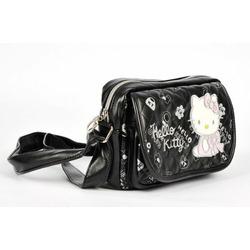 Hello Kitty Sling Messenger Bag Handbag Black