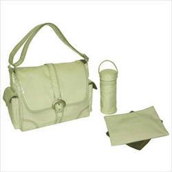 Kalencom 0-88161-22314-8 Laminated Buckle Diaper Bag in Cream