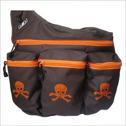 Diaper Dude 900S Brown Skull & Crossbones Diaper Bag