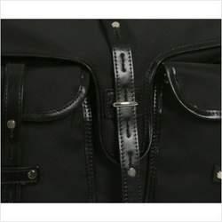 Mia Bossi MB507 Reese Messenger Diaper Bag in Sable Black
