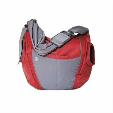 Go Gaga B-SL03 The Slide Diaper Bag in Cayenne and Gray