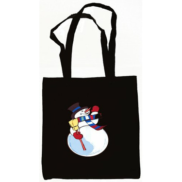 Snowman Tote Bag Black
