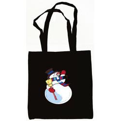 Snowman Tote Bag Black