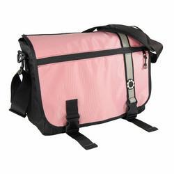 Dadgear Messenger Diaper Bag - Pink Retro Stripe