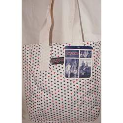 Jansport Classic Tote Bag White Red Black Polka Dot Hearts