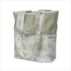 Hoohobbers Personalized Diaper Bag Tote Personalized Diaper Bag Tote in Etoile Green