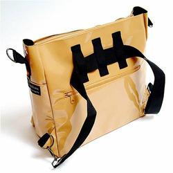 Orange Canvas Stroller Tote Messenger Bag
