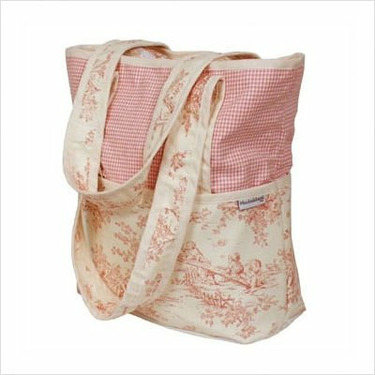 Hoohobbers Personalized Diaper Bag Tote Personalized Diaper Bag Tote in Etoile Pink Customize: Yes, Personalization: Embroidered - Two Words