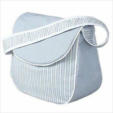 Hoohobbers DBMESSENGER Personalized Messenger Diaper Bag in Blue Sherbert