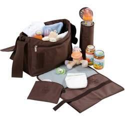 Lassig Small Messenger Eco-Friendly Diaper Bag, Glam Beige