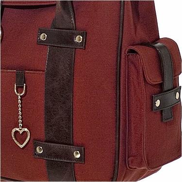 Rust Canvas Chic Diaper Bag