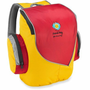 Outside Baby Little School Bag - Red and Multi
