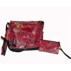 Garnet Brocade Diaper Bag