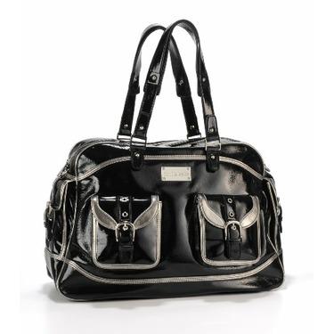 timi & leslie Aurelie Convertible Baby Bag - Black/Silver