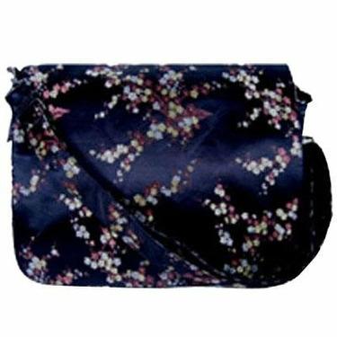 Black Yen Linh Cherry Blossom Diaper or Messenger Bag