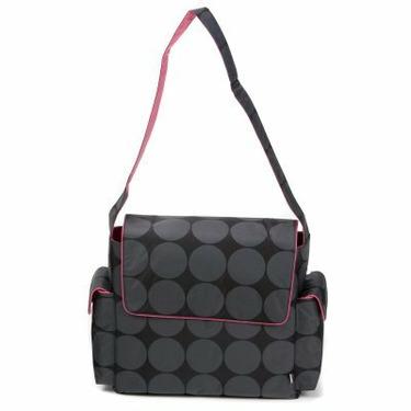 OiOi Messenger Diaper Bag-Candy Pink Dot - OIO004-1
