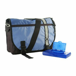 DadGear Messenger Diaper Bag - Retro Blue