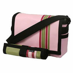 Pink Airship Diaper Messenger Bag with Changing Pad