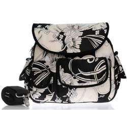Baby Bee Bags Eglan Black and White Dream Diaper Tote Bag