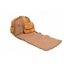 Baby Bee Bags Designer Eglan Golden Brown Diaper Tote, Backpack, Messenger Bag