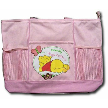 "Disney Baby Pooh ""Friendly Jungle Critters"" Large Diaper Bag"