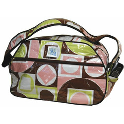 Taylor Weekender Diaper Bag in Geo Pink