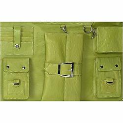 Lime Green Paris Diaper and Laptop Bag