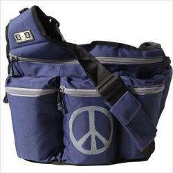 Diaper Dude 500P Navy Peace Sign Diaper Bag