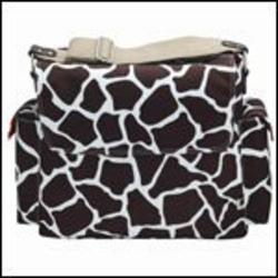 OiOi® Giraffe-Print Messenger Diaper Bag