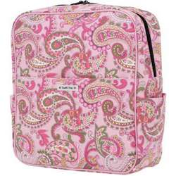 Bumble Bags Madeline Messenger Backpack Pink Paisley