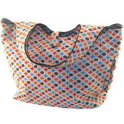 Funky Red Dot Cotton Twill Diaper Bag