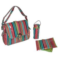 Pretty Stripe Watermelon Laminated Buckle Diaper Bag