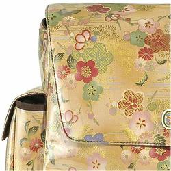 Gold Flower Mothership Diaper Bag