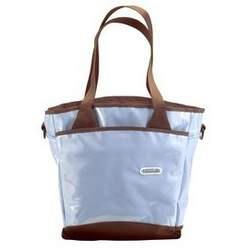 Fleurville Sling Tote Diaper Bag - Blue Chocolate