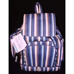 Kalencom Silver Spoon Backpack Diaper Bag - Blue and Tan