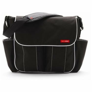 Skip Hop Diaper Bag-Black with White Trim Dash Deluxe - SKH002-1
