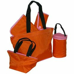 5-Piece Tote Set - Pumpkin/Rose