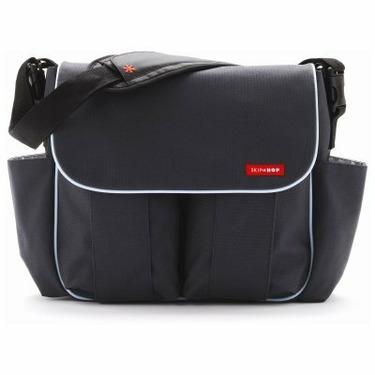 Skip Hop Diaper Bag-Charcoal with Blue Trim Dash Deluxe - SKH015