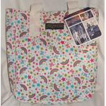 Jansport Tote Bag White Rainbow Butterflies, Stars & Strawberries