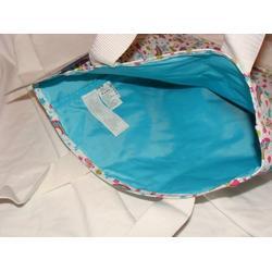 Jansport Tote Bag White Rainbow Butterflies, Stars & Strawberries