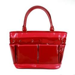 Cynthia Rowley Patent Leather Diaper Bag