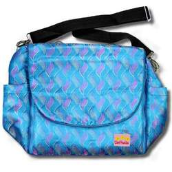 Blue Waves Silk Boutique Diaper Bag