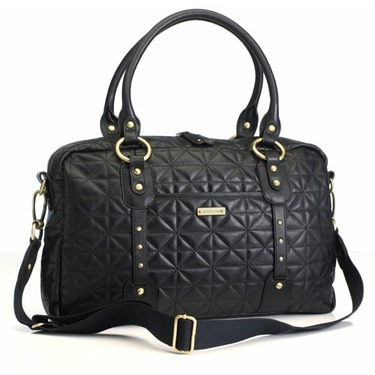 Elizabeth Quilted Leather in Black